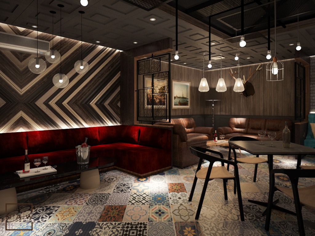 Industrial Vintage Lounge Bar Daw Interior